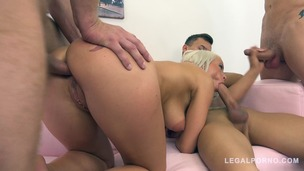 Hot blonde Licky Lex fucked by 3 guys & DP'ed 3on1 FM006 small screenshot