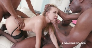 Black Buster, Mike Chapman & CO take care of Lexy Star for hard anal fucking and DP GIO204 small screenshot