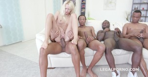 Black Busters 5on1 Lola Shine interracial DP /DAP /GAPES /FACIAL Skinny one gets BBC gangbang GIO225 small screenshot