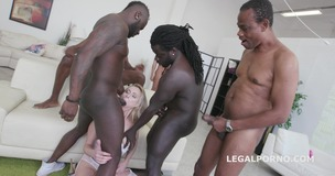 Black busters Barbarian Edition 6on1 Brittany Love total destruction with Ball Deep Anal /DAP /Manhandle /Dt /Double Bj GIO318 small screenshot