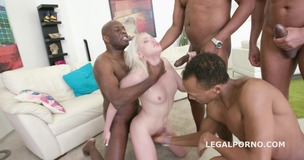 Blackbusters 4on1 Lola Taylor gets it ball deep DP /DAP /DT /Creampie /Swallow. She likes big black cocks! GIO323 small screenshot