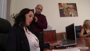 Boss Fucks His Two Secretaries Kyra Hot & Patty Michova At The Office GP108 small screenshot