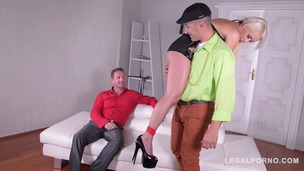 Blonde subby Christina Shine tied up, spanked and double penetrated GP147 small screenshot