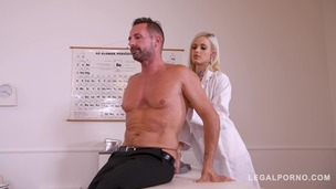 Extremely Sexy Doctor Ria Sunn tricks patient into Hardcore Anal & Bondage GP185 small screenshot