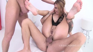 Samanth Joones DAP'ed (slut spreads asshole for two cocks) SZ664 small screenshot