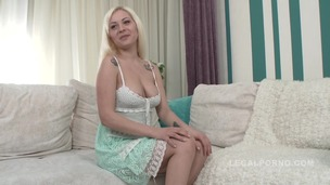 Blonde slut Nataly fucked in casting NR383 small screenshot