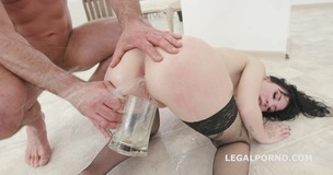 Pissing Overdrive #2 Charlotte Sartre gets 6 guys with Balls Deep DAP, Gapes, Piss drink & Facial GIO1087 small screenshot