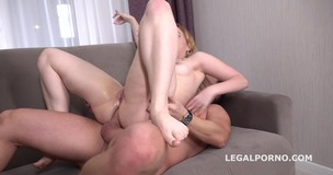 Bella Mur first DP with Rough Sex Balls Deep Anal and DP, Manhandle and Cum in Mouth GL093 small screenshot