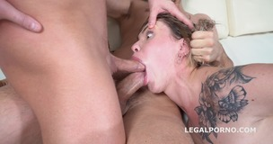 Jay Moon rough DP session with Balls Deep Action, Gapes and Cum in Mouth GL093 small screenshot