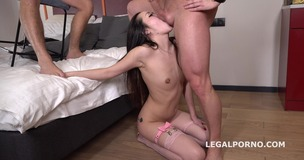 Liloo first DP with Rough Sex, Balls Deep DP, Manhandle and Cum in Mouth GL099 small screenshot