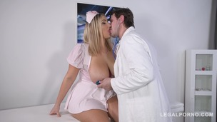 Busty nurse Krystal Swift titty fucked at the hardcore clinic by Doc's dick GP435 small screenshot
