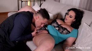 Voluptuous bombshell Anastasia Lux fucked balls deep by police officer GP457 small screenshot