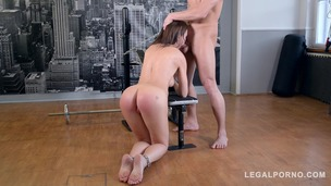 Hot brunette Tina Kay spanked, humiliated & fucked in the ass with big cock GP462 small screenshot