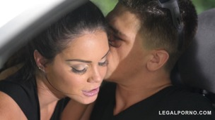 Alison Tyler & her hubby test fuck new mattress on the back of their truck GP699 small screenshot