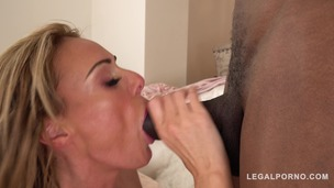 Busty Stacey Saran gets drilled by stud's black monster cock GP742 small screenshot