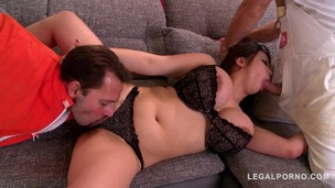 Curvy Hardcore goddess Tigerr Benson double penetrated until she orgasms GP819 small screenshot