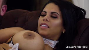 Curvy Latina maid Kesha Ortega lets boss bang her big tits and wet pink GP848 small screenshot