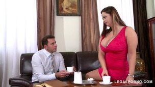 Hardcore loving busty goddess Sirale titty fucked to the XXXtreme at office GP856 small screenshot