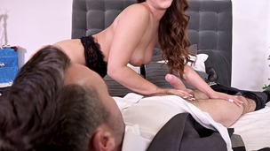 Super hot Latina Ginebra Bellucci's hairy pussy & ass fucked on Christmas GP1119 small screenshot
