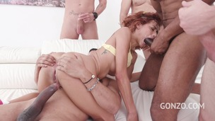 Veronica Leal assfucked by 1, 2, 3, 4 guys and then gangbanged by all 10 of them SZ2308 small screenshot