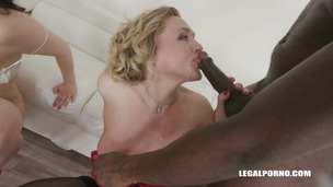 Hannah Vivienne & Liberta Black two bitches going crazy for black cock IV273 small screenshot