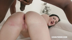 Kizzy Six gets double anal interracial fucking IV283 small screenshot