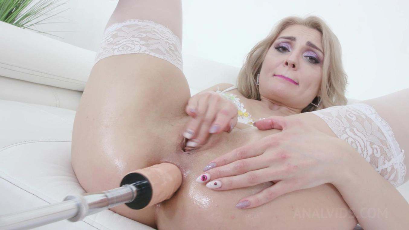 LegalPorno - Kinky Sex - Caty Kiss enjoys anal pounding with 3 BBC KS154