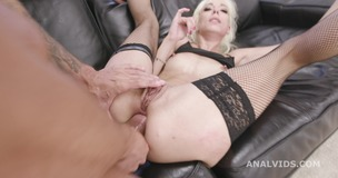 Basined, Sarah Slave 4on1 Balls Deep Anal, DAP, Gapes, Pee Drink, Creampie and Swallow GIO1559 small screenshot