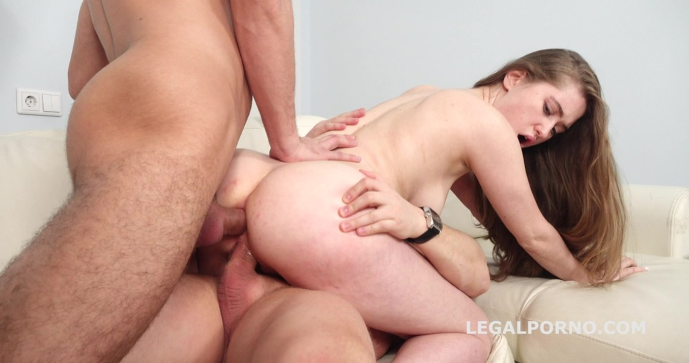 LegalPorno - Giorgio Grandi - My first DP with Sofia, Balls Deep Anal and DP, Gapes and Cum in the Mouth GL147