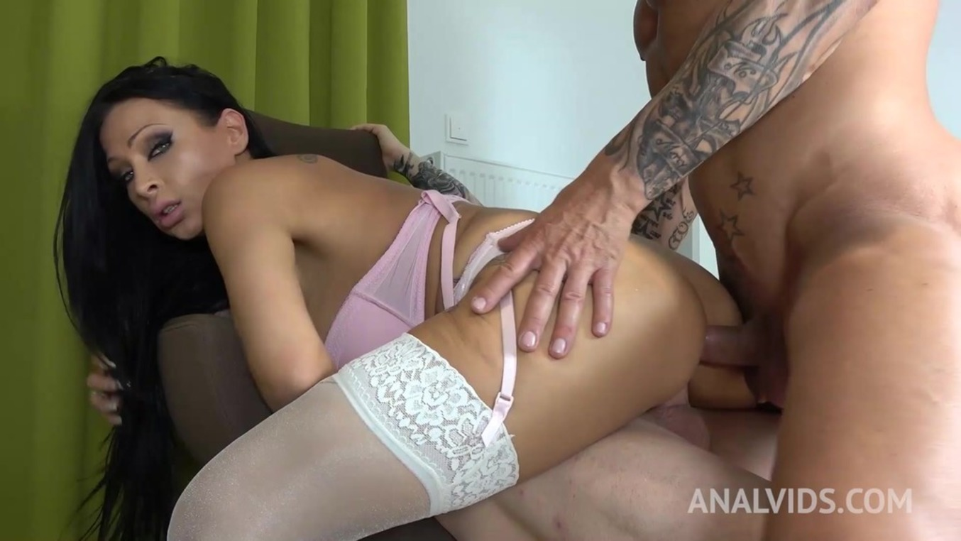 LegalPorno - Outside the Studio - Hot homemade DP threesome with Jacky Lawless OTS044