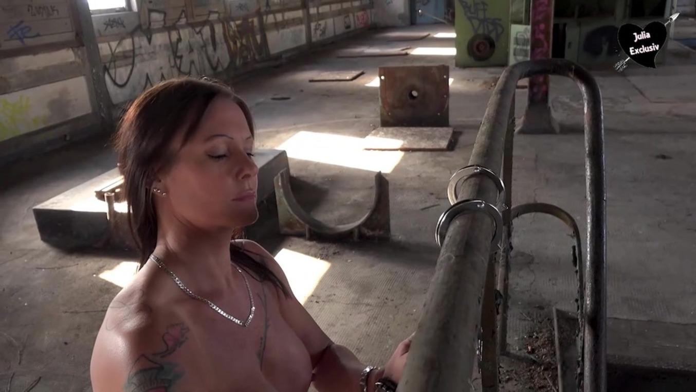 LegalPorno - Outside the Studio - Pissing slut Julia Exclusiv gets spanked at lost place OTS116