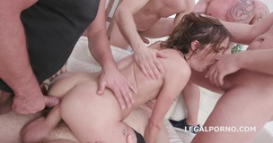 Zoe Sparks 6on1 Manhandle, Balls Deep Anal and DAP, ButtRose, Gapes, and Swallow GIO1420 small screenshot