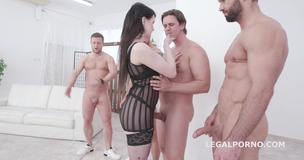 Elizabeth Fox 4on1 Balls Deep Anal, DP and Facial GIO1383 small screenshot