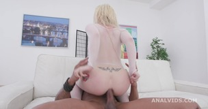 Interracial Pee, Barbie Sins gets wet with 2 BBC with Gapes, Dirty Talking, Anal Fisting, Pee Drink, DAP GIO1478 small screenshot