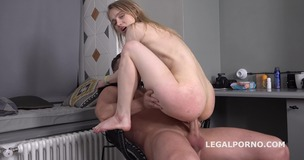 Mr. Anderson's Anal Casting, Light Fairy first time anal with rough action, Gapes and Cum in mouth GL105 small screenshot