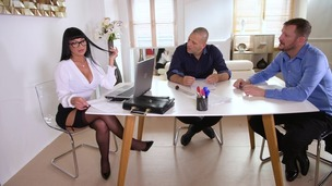 Milf boss Valentina Ricci orders double penetration threesome in the office GP1392 small screenshot