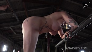 Handcuffed slut Julia Exclusiv manhandled, whipped & fucked OTS012 small screenshot