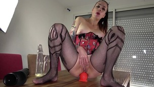 Adeline Lafouine plays with huge toys in her ass OTS145 small screenshot
