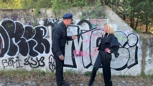 Claudia Mac assfucked & pissed on by cop at a crime scene OTS248 small screenshot