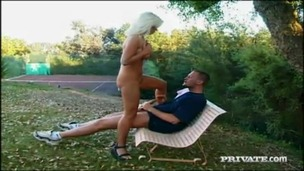 Miss Angelica Gets Licked and Fucked Outdoors in the Park small screenshot