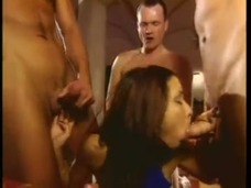 Cute Teen Vanda Gets a DP along with Several Facials in This Gangbang small screenshot
