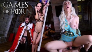 GameOfPorn #2: Daenerys licked and fucked in the ass. Nude slaves give blowjobs to the King of the North JMC023 small screenshot