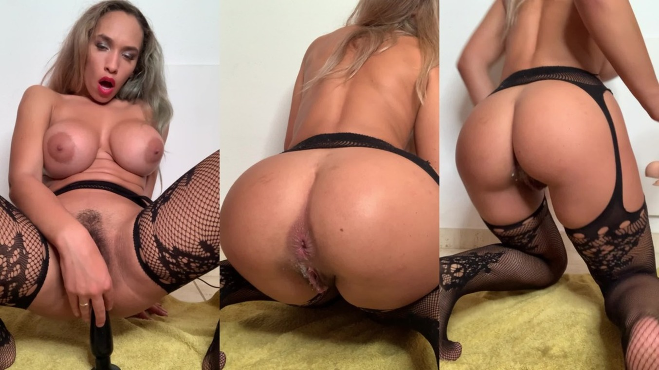 LegalPorno - Briana Banderas Studio - Huge toys in my ass with milk, ATM, piss BRB157
