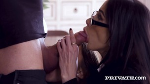 Clea Gaultier and Sybil, Teacher and Student Share Stud in Anal Threesome small screenshot